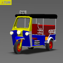 Download 3D printing designs TUK TUK 3 WHEEL CAR THAILAND No.1, Tum