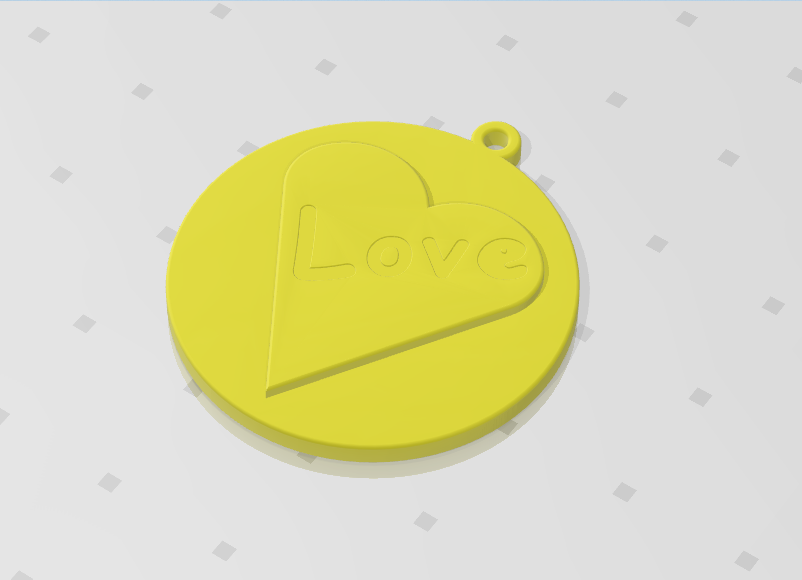 2019-07-26_120825.png Download STL file KEYCHAIN LOVE • 3D print template, Tum