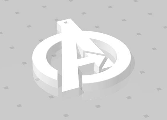 2019-01-26_235750.png Download free STL file KEYCHAIN AVENGERS SYMBOL • 3D print design, Tum