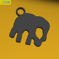 Download 3D printing designs KEYCHAIN Elephent, Tum