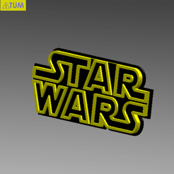 Download free 3D printer model STARWARS LOGO PLATE, Tum
