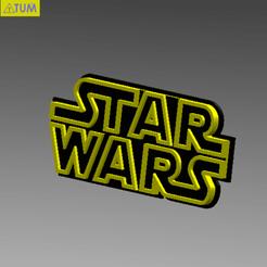 Free 3D print files STARWARS LOGO PLATE, Tum