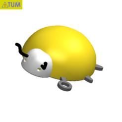 Download free STL file KEYCHAIN Lady Bird No.1 • 3D printing design, Tum