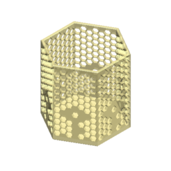 STL file 6 BOX HONEYCOMB - T Flower Pattern, Tum