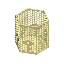 Plan imprimante 3D 6 ENCADRÉ MIEL DE MIEL - Motif Fleur T, Tum