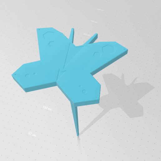 2020-05-03_161832.png Download STL file Butterfly for Garden • 3D print design, Tum