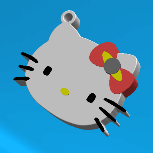 2020-01-29_153458.png Download free STL file KEYCHAIN Kitty • 3D printable template, Tum