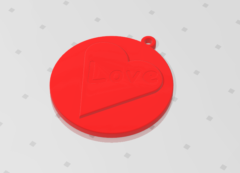 2019-07-26_121056.png Download STL file KEYCHAIN LOVE • 3D print template, Tum