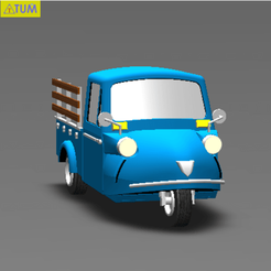 2019-02-12_172700.png Download STL file TUK TUK 3 WHEEL FROG CAR (IN FARM)  • 3D print template, Tum