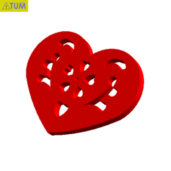 Download free 3D printer files Heart Plate Symbol No.12, Tum