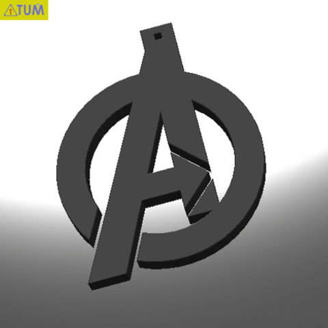 Download free STL files KEYCHAIN AVENGERS SYMBOL, Tum