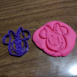Imprimir en 3D Minnie Cortante Cookie, latienditadebudin