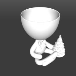 Arbolito.jpg Download STL file Robert Planter Christmas Tree • 3D printer design, latienditadebudin