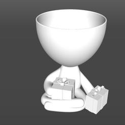 Regalitos.jpg Download STL file Robert Planter Christmas Gift • 3D print model, latienditadebudin