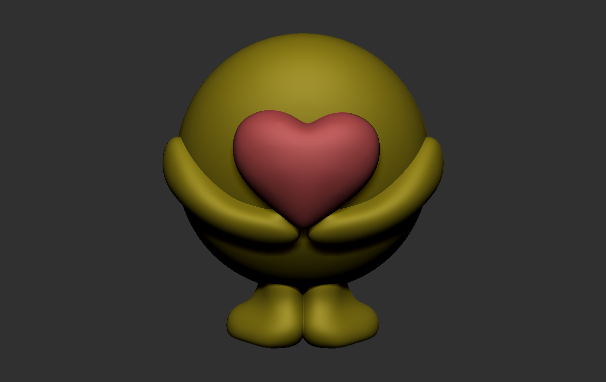 2018-09-08 (2).png Download free STL file Smiley with heart • 3D printing design, vladek9921
