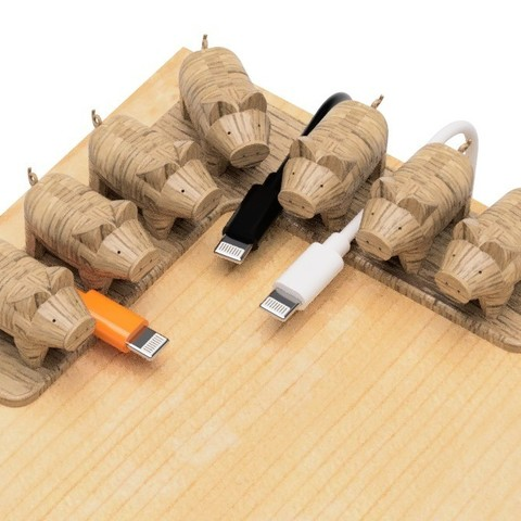 3D printer models USB holder (Pigs-L type), EIKICHI