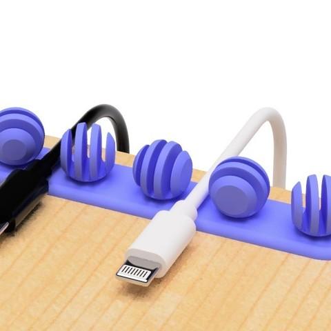 3.jpg Télécharger fichier STL gratuit Porte-câble USB (type cuillère à miel) • Design pour impression 3D, EIKICHI