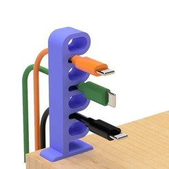 3.jpg Download free STL file USB cable holder (Ring type) • Template to 3D print, EIKICHI