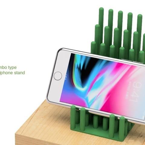 Télécharger fichier impression 3D gratuit Support pour téléphone portable de type bambou, EIKICHI