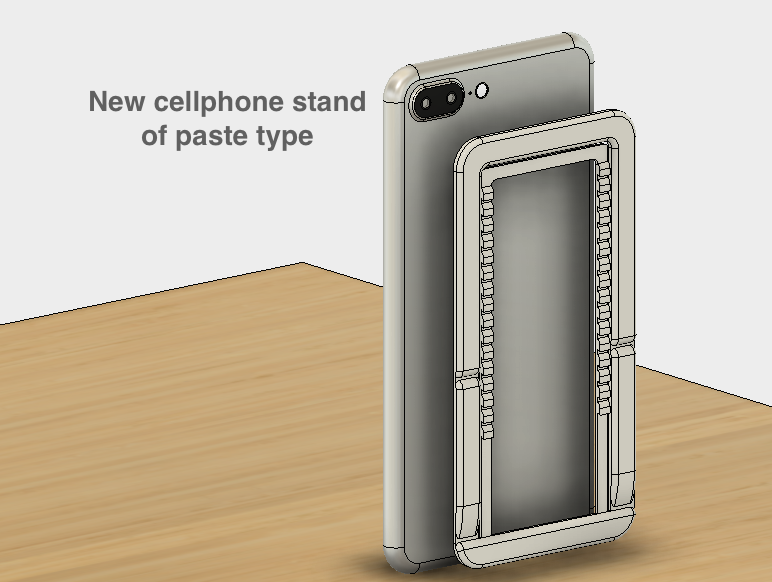 _2019-05-04_14.33.22.png Download free STL file New Cellphone stand of paste type • 3D printing model, EIKICHI