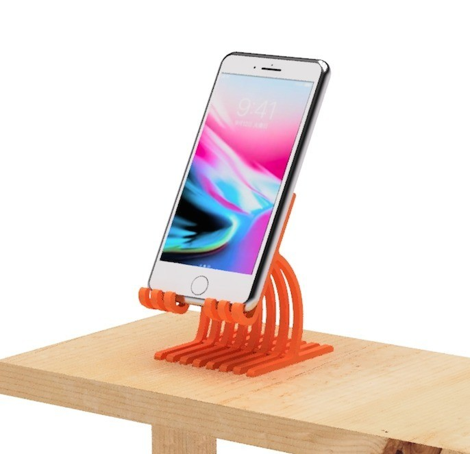 2.jpg Download free STL file Cell phone stand-4 • 3D printer model, EIKICHI