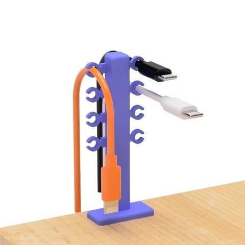 2.jpg Télécharger fichier STL gratuit Porte-câble USB (type Hold) • Design imprimable en 3D, EIKICHI