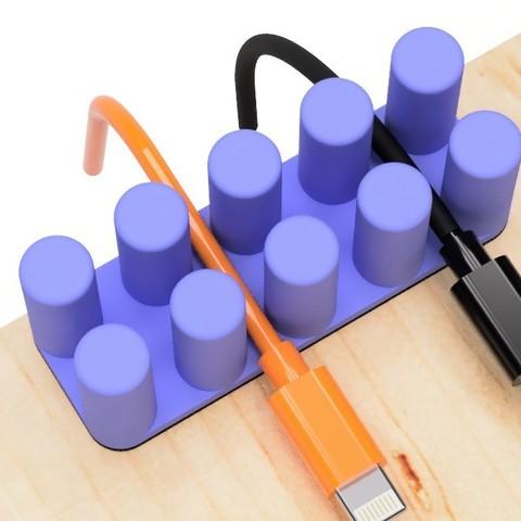 Télécharger fichier STL gratuit Support de câble USB (type cylindre), EIKICHI