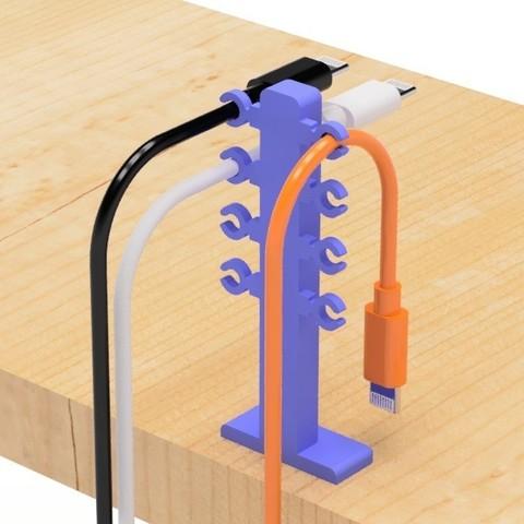 3.jpg Télécharger fichier STL gratuit Porte-câble USB (type Hold) • Design imprimable en 3D, EIKICHI