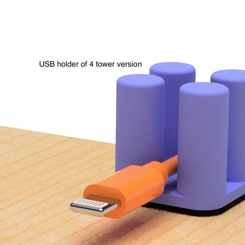 Télécharger fichier 3D gratuit Support USB de la version 4 tours., EIKICHI