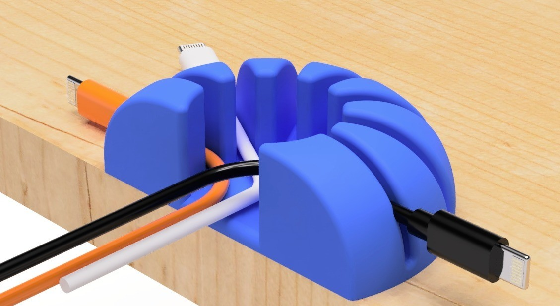 1.jpg Download free STL file USB cable holder (circle type-1) • Template to 3D print, EIKICHI