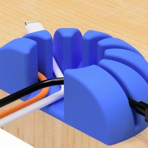 Impresiones 3D gratis Soporte para cable USB (círculo tipo 1), EIKICHI