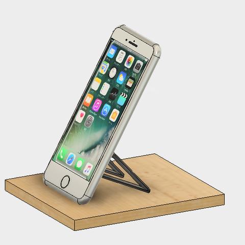60-1.png Télécharger fichier STL gratuit Support pour téléphone portable (type Paste) • Objet imprimable en 3D, EIKICHI