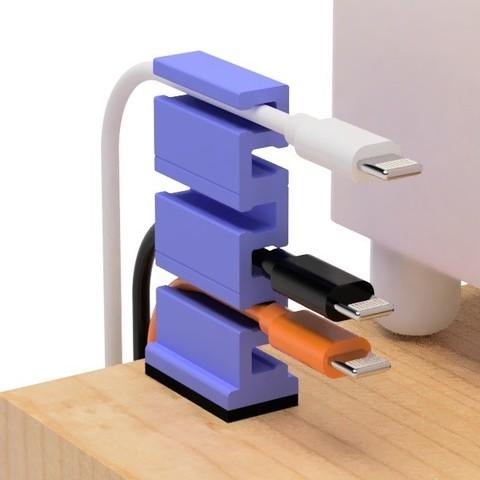 Télécharger objet 3D gratuit Support de câble USB pour un espace restreint, EIKICHI