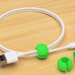 Imprimir en 3D gratis Soporte USB de la esfera móvil, EIKICHI