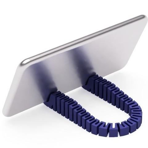 fichier imprimante 3d gratuit support pour t l phone portable zigzag la poste. Black Bedroom Furniture Sets. Home Design Ideas