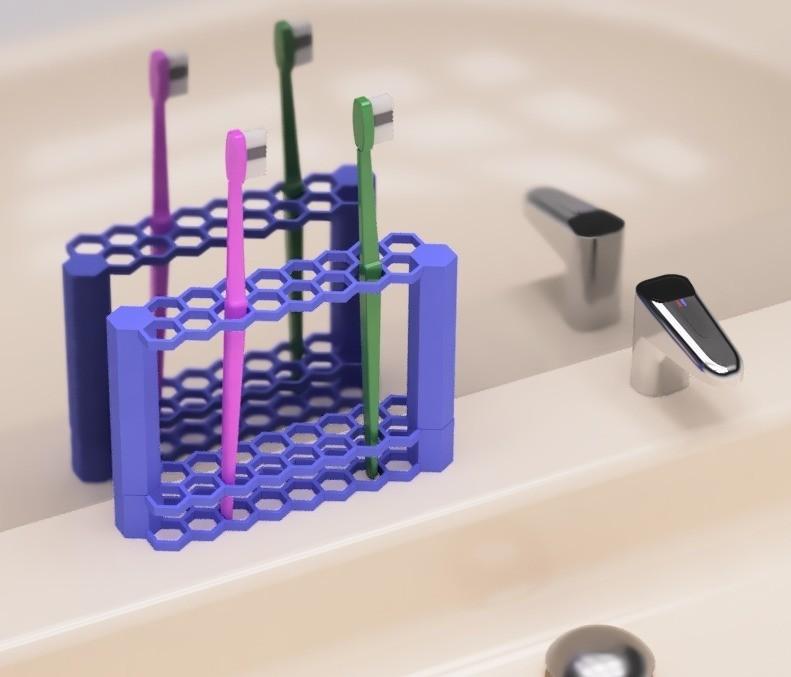 1.jpg Download free STL file Tooth brush holder • 3D printer object, EIKICHI
