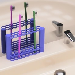 Download free 3D printing files Tooth brush holder, EIKICHI