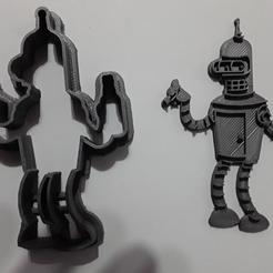 Imprimir en 3D gratis Bender, corta galletas, sskio