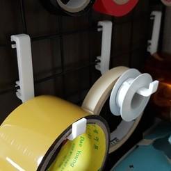 Free 3d printer files Steel Net Panel Hooker Large / Tape Hanger / 테이프걸이, MadeAll