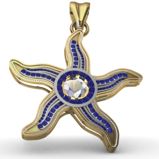 Télécharger modèle 3D gratuit Pendentif étoile de mer, GENNADI3313