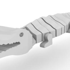 Screenshot_3.png Download STL file Crocodile Flexible  • 3D printer template, GENNADI3313