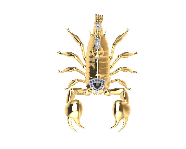 Screenshot_4.png Download free STL file Said Scorpion charm • 3D printing object, GENNADI3313