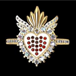 Descargar archivos STL  heart and skull ring, GENNADI3313