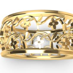 Screenshot_1.png Télécharger fichier STL Bague de fleurs magnifique • Design pour impression 3D, GENNADI3313