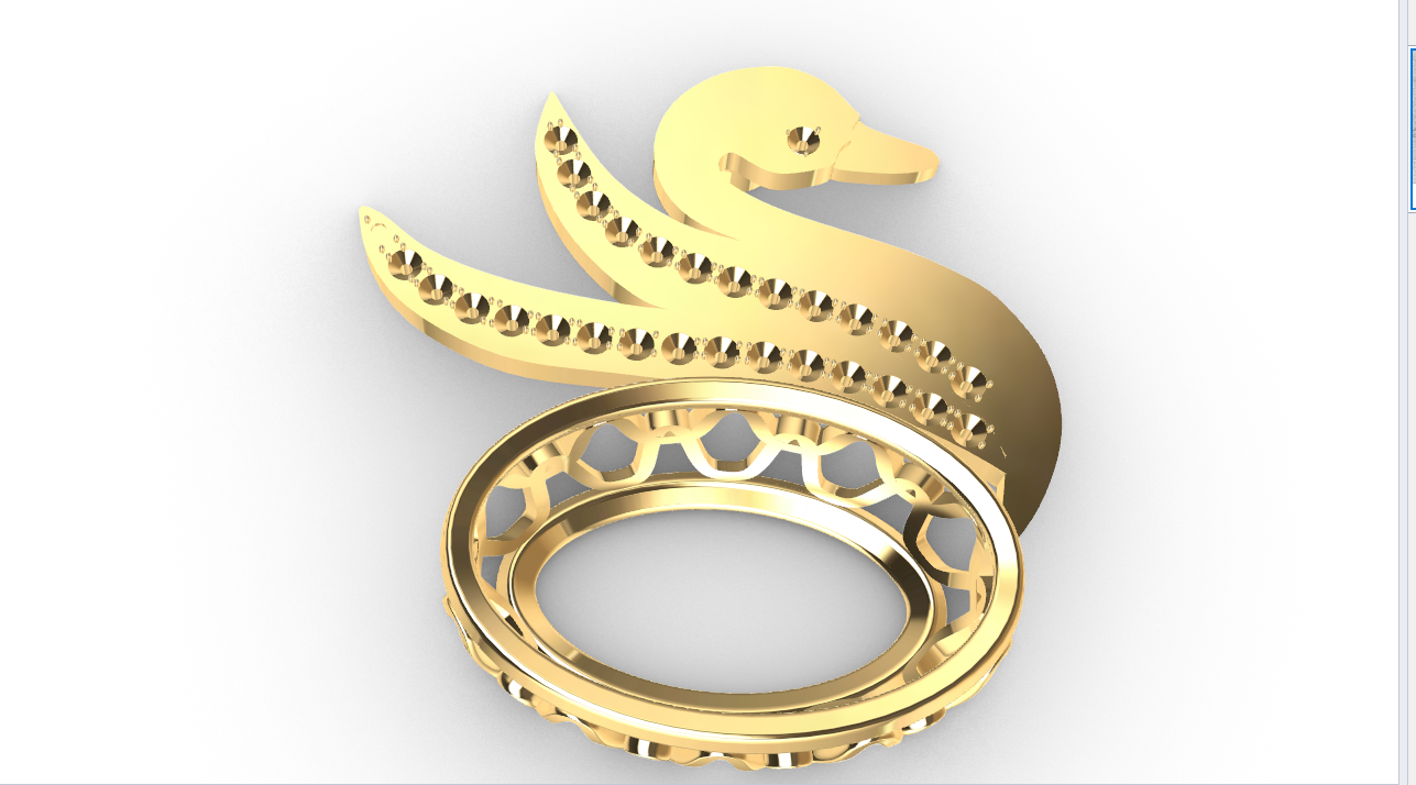 Screenshot_5.png Download free STL file Swan JEWEL • 3D printer object, GENNADI3313