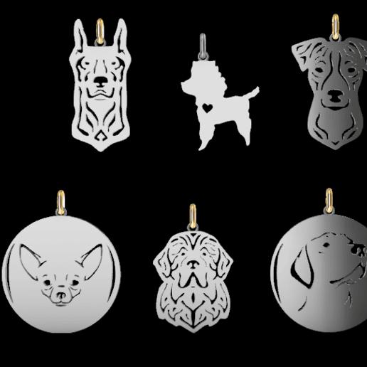 Screenshot_8.png Download STL file Dogs • 3D printing object, GENNADI3313