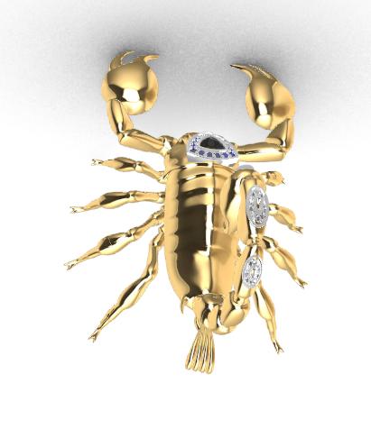 Screenshot_6.png Download free STL file Said Scorpion charm • 3D printing object, GENNADI3313