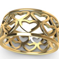 Screenshot_1.png Download STL file hearts ring • 3D printer template, GENNADI3313