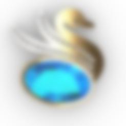 swan2.stl Download free STL file Swan JEWEL • 3D printer object, GENNADI3313