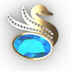 Télécharger fichier STL gratuit Cygne JEWEL • Objet pour imprimante 3D, GENNADI3313
